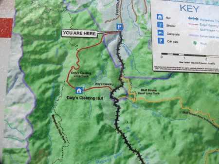 Carpark map for Waitawheta Tramway track