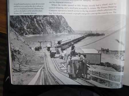 Historic Tokomaru wharf from a local history book.
